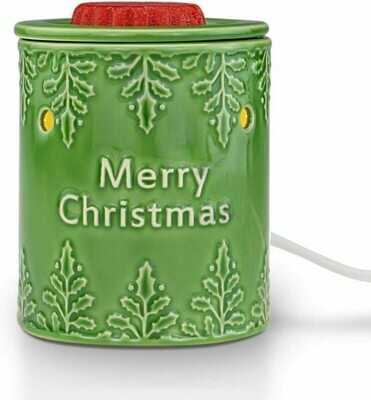 MERRY CHRISTMAS GREEN TABLETOP WARMER