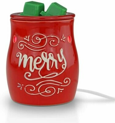 MERRY CHRISTMAS RED TABLETOP WARMER