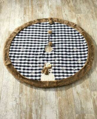 Faux Fur-Trimmed Tree Skirt