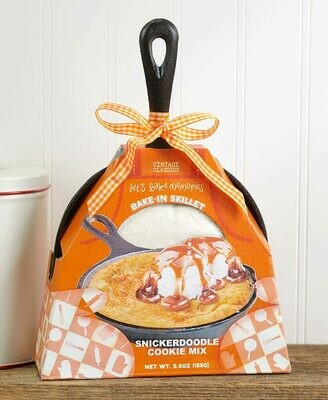 Cast Iron Skillet with Baking Mix - Snickerdoodle