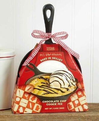 Cast Iron Skillet with Baking Mix - Chocolate Chip Cookie