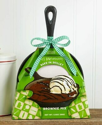 Cast Iron Skillet with Baking Mix - Brownie
