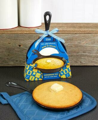 Cast Iron Skillet with Baking Mix - Cornbread