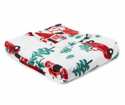 ​RED TRUCK FLEECE THROW