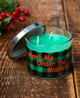 Make Mine Country Plaid Candle - Meet Me Under the Mistletoe