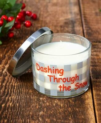 Make Mine Country Plaid Candle - Dashing Through the Snow