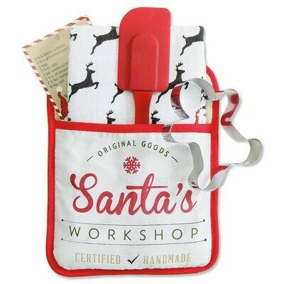 Christmas Pocket Mitt Gift Set- Santa's Workshop