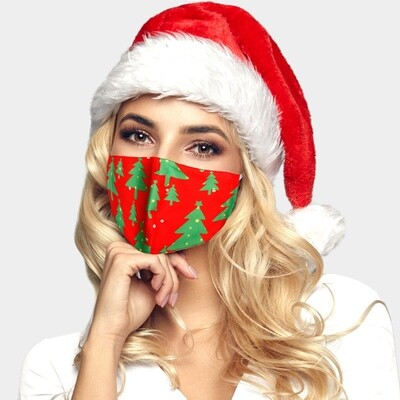 CHRISTMAS THEME CHRISTMAS TREE PRINT FASHION MASK