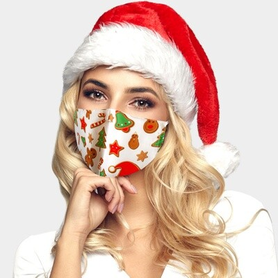 CHRISTMAS THEME GINGERBREAD FASHION MASK