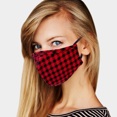 BUFFALO CHECK PRINT MASK - Red