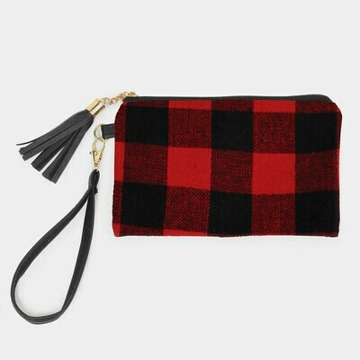 BUFFALO CHECK WRISTLET - Red