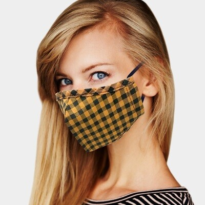 BUFFALO CHECK PRINT MASK - Mustard