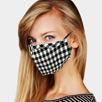 BUFFALO CHECK PRINT MASK - Black