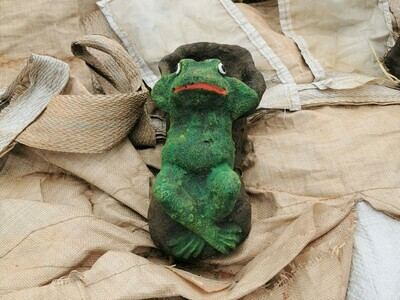 Laid Back Frog On a Shoe Statue