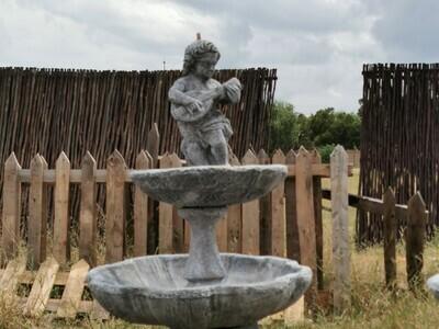 Two-Tier Cupid/Cherub Statue Fountain Birdbath