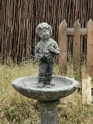 Young Boy Statue Fountain Birdbath