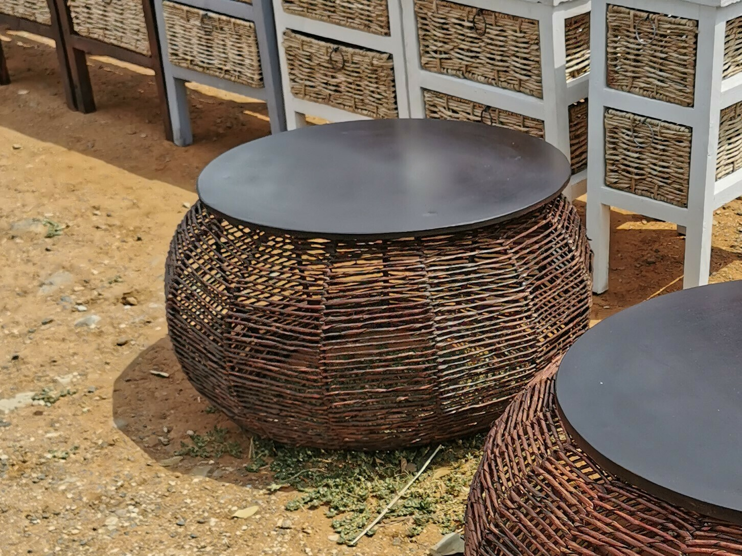 Round Basket Coffee Table