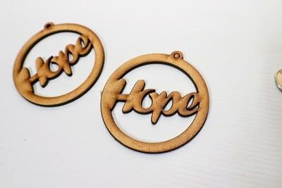 Wooden Earrings: Hope