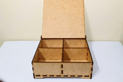 Quartered Wooden Box Hinged