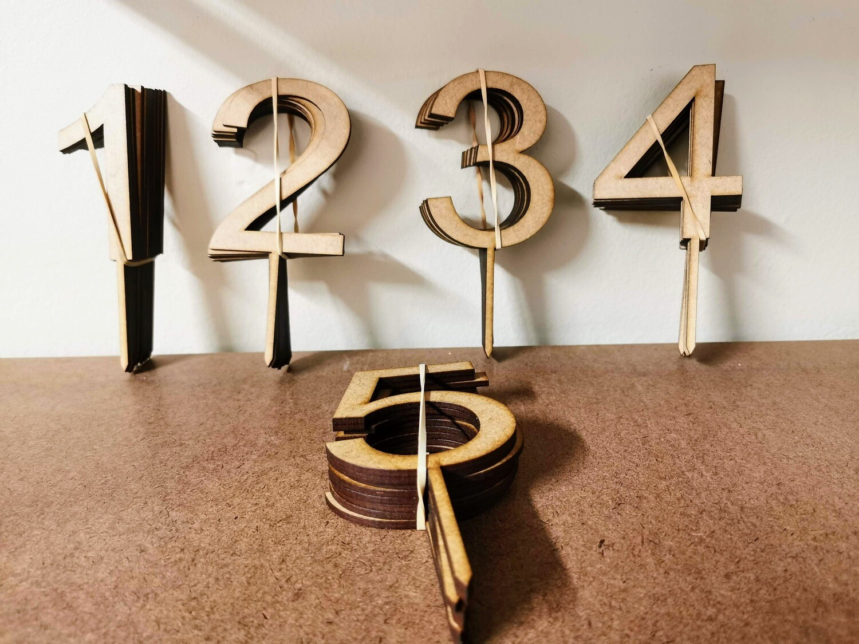 Custom Numbers Cake Topper