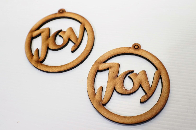 Wooden Earrings: Joy