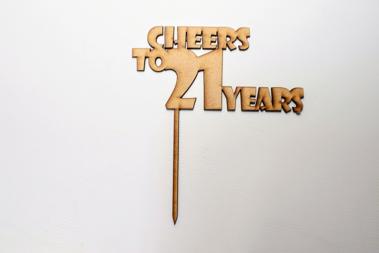 Cheers to 21 Years Cake Topper