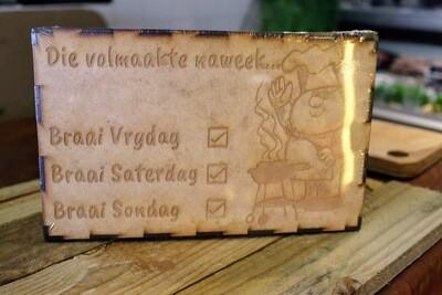 Wooden Braai Decoration