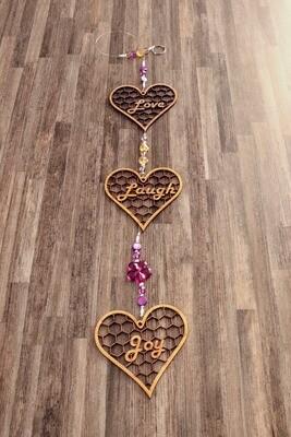 Beaded String of Hearts