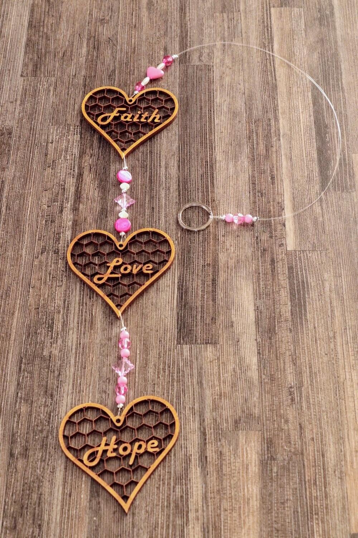 Beaded String of Faithful Hearts