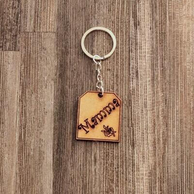 Mamma Wooden Keychain