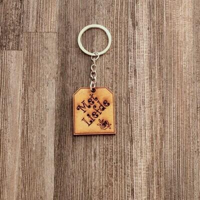 Met Liefde Wooden Keychain
