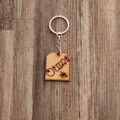 Ouma Wooden Keychain