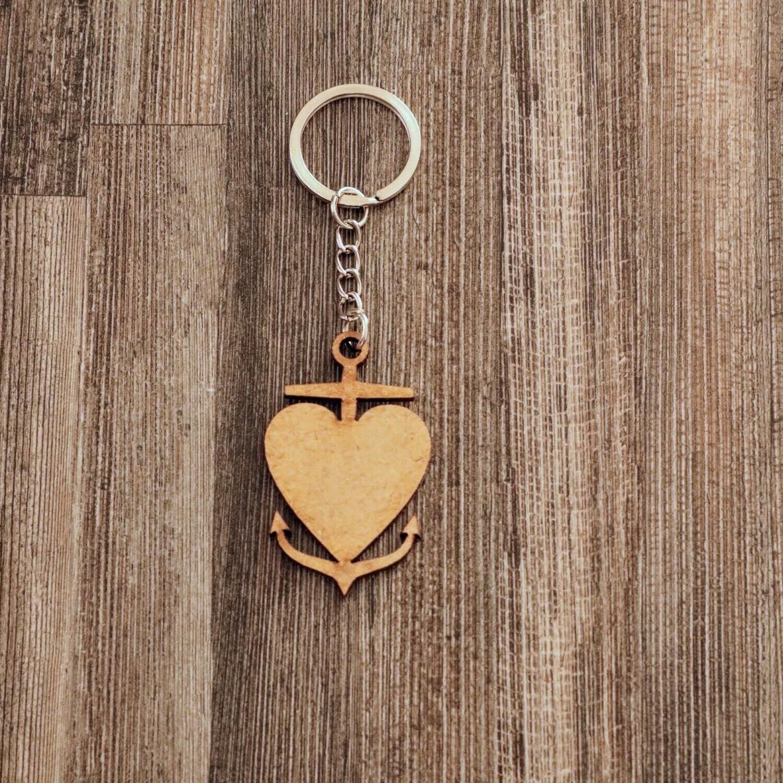 Anchored Heart Keychain
