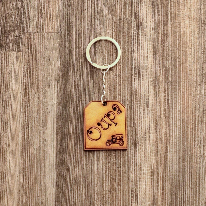 Oupa Wooden Keychain