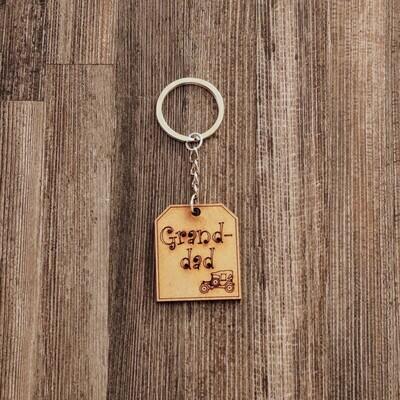 Grandad Wooden Keychain