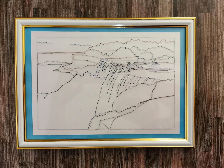 Waterfall Framed String Art