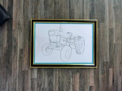 Tractor Framed String Art