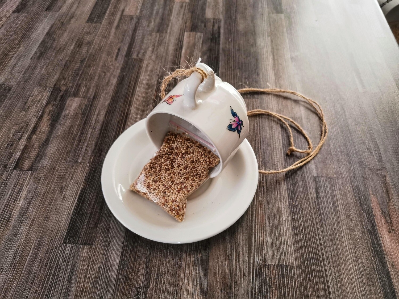 Butterfly Teacup Bird Feeder