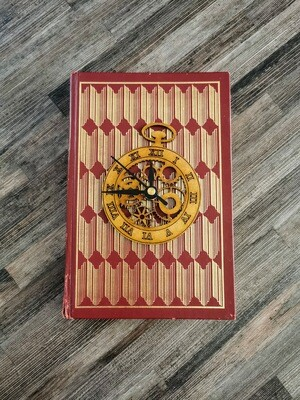 Book Based Wooden Clock