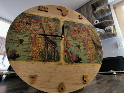 Crafted Africa Wooden Clock