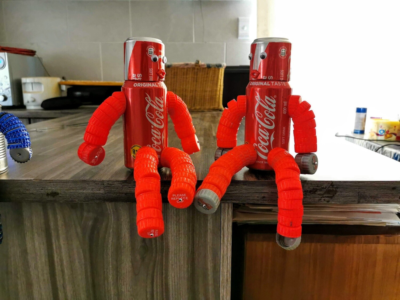 Coca-Cola Tin Man Piggy Bank