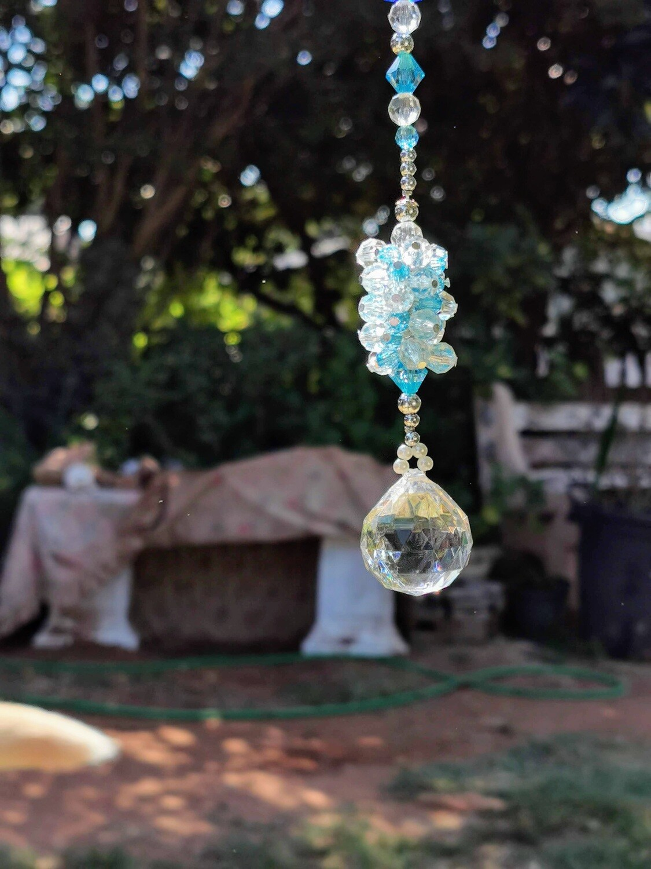 Blue Bead Ball Hanger