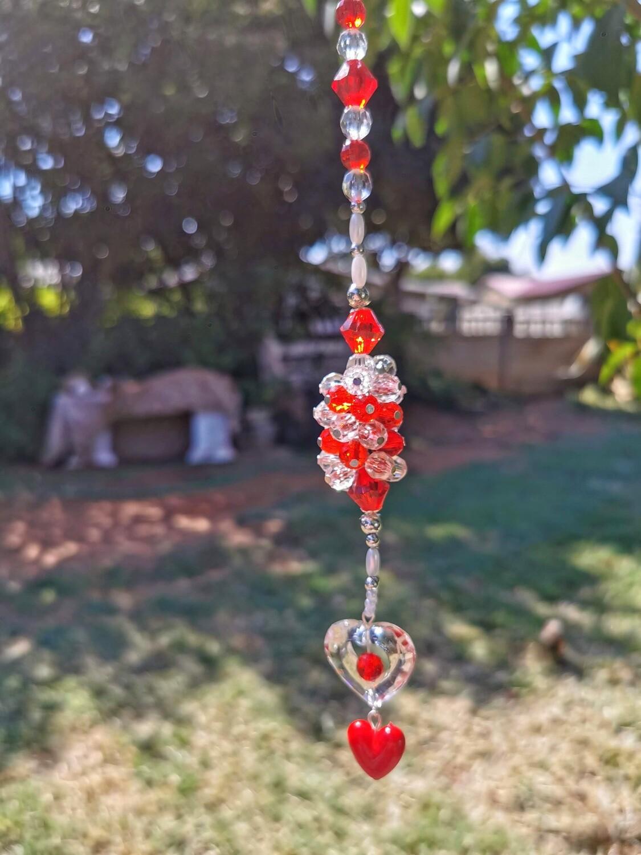 Red Heart Bead Hanger