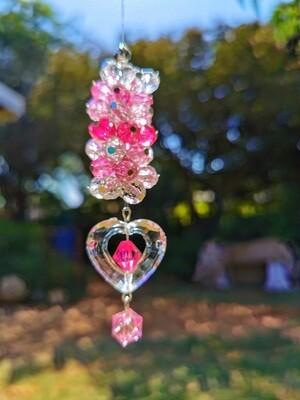Pink Heart Bead Hanger