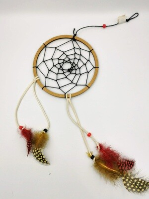 Red and Yellow Thin String 11.5 cm Dreamcatcher