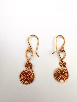 Beadless Coiled Copper Earrings