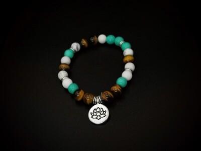 Beaded Protea Charm Bracelet