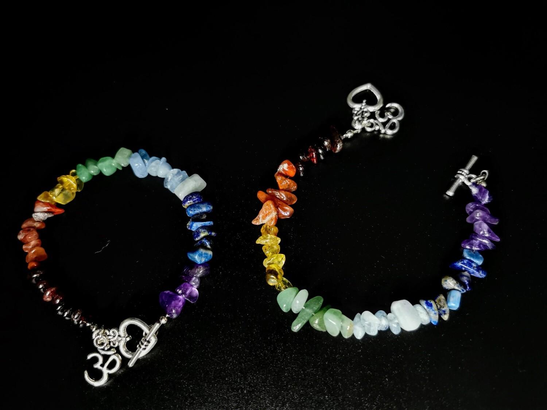 3D Rainbow Heart Crystal Bracelet