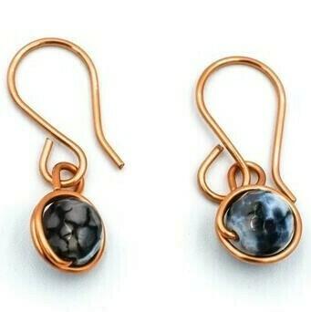 Copper and Black Earrings