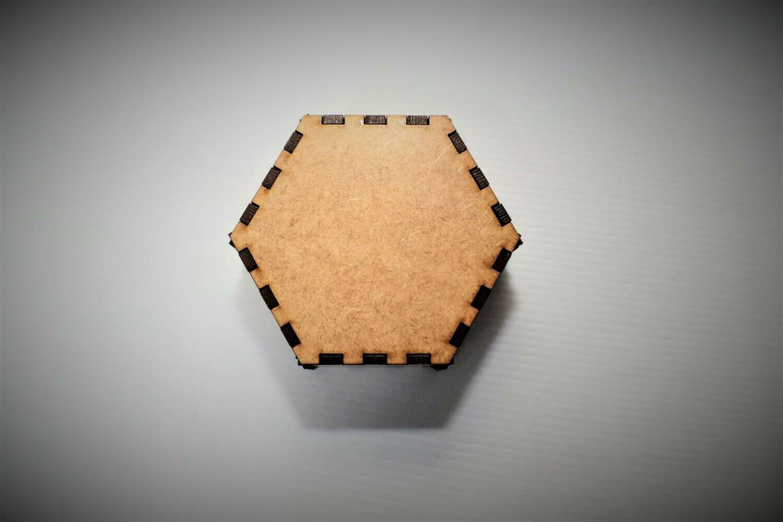 Hexagonal Laser Cut Wooden Box